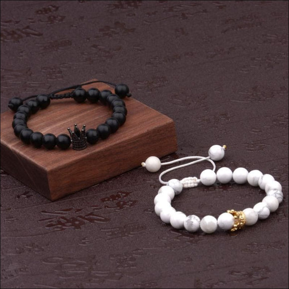 King And Queen Crown Bracelets - AmazinTrends.com