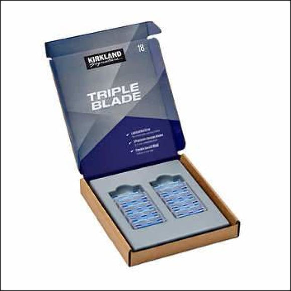 Kirkland Signature Triple Blade Refill Cartridges, 18-count - AmazinTrends.com