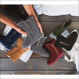 Lamo Suede Boots, Water and Stain Resistant - Juniper - AmazinTrends.com