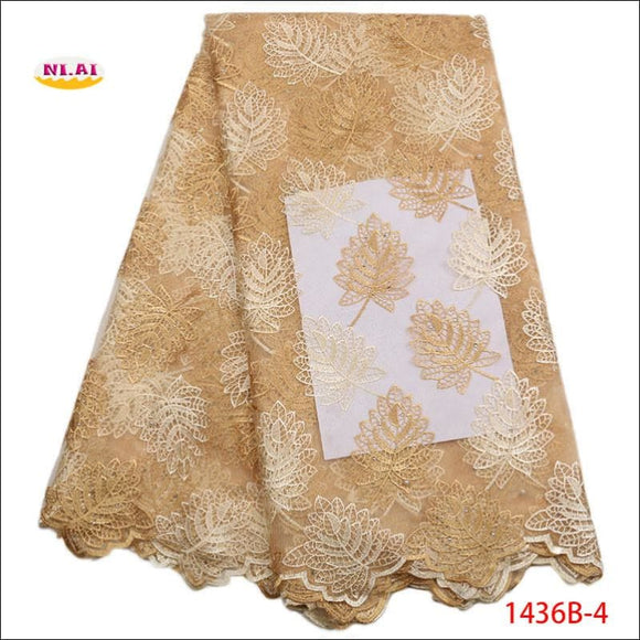 Latest Gold French Tulle Lace Fabric With Stone Nigerian Mesh Lace - AmazinTrends.com