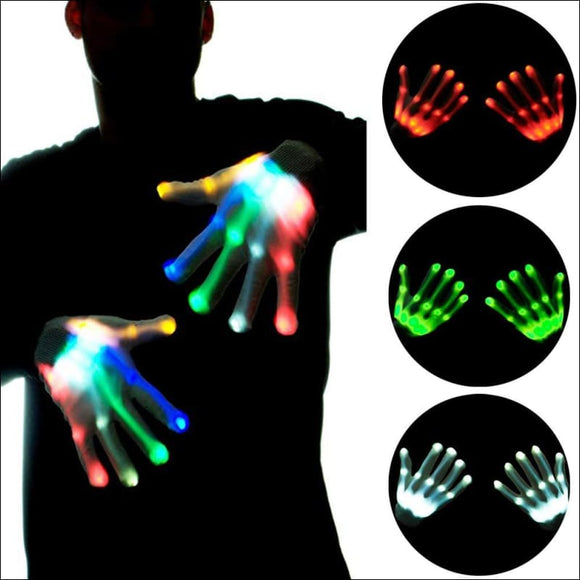 LED Light Up Skeleton Hand Gloves 🖐🏿 - AmazinTrends.com