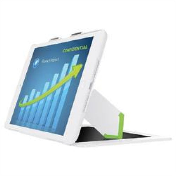 Leitz Landscape View Privacy Case w/ Stand for iPad 2/3/4, White - AmazinTrends.com