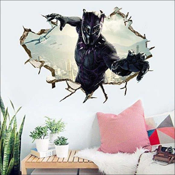 Letitia Matthew Black Panther 3D Marvel Wall Deacals - AmazinTrends.com