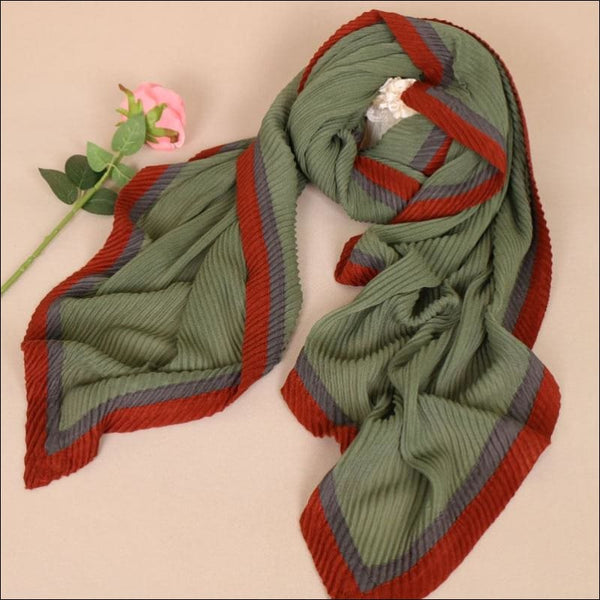 Luxury Scarves Patchwork Bubble Wrinkle Shawls, Long Crinkle Hijab - AmazinTrends.com