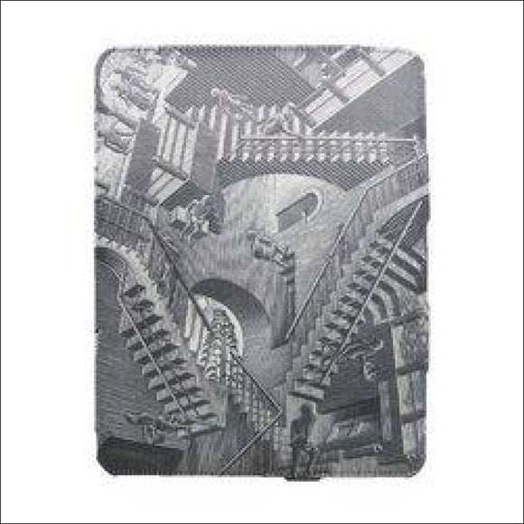 M.C. Escher Relativity Premium Fabric Wrapped Case for iPad 2 - AmazinTrends.com