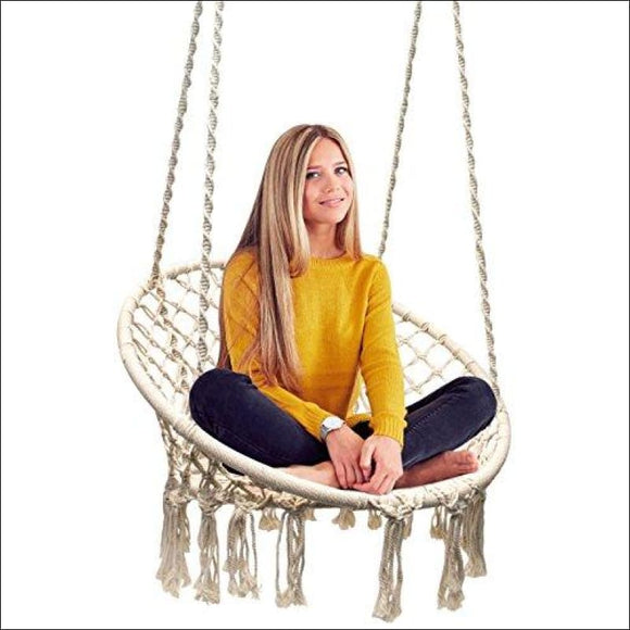 Macrame Swing Hammock Chair - AmazinTrends.com