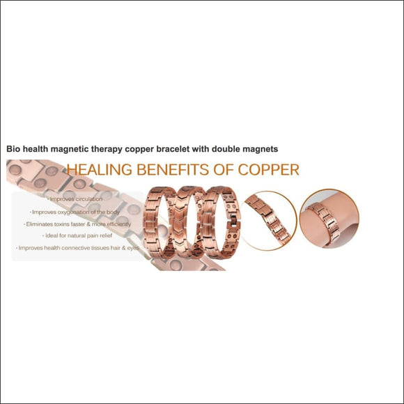 Magnetic Therapy Pure Copper Bracelet ☺︎ - AmazinTrends.com
