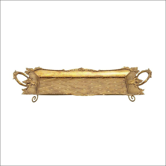 Metal Gold Serving Tray - AmazinTrends.com