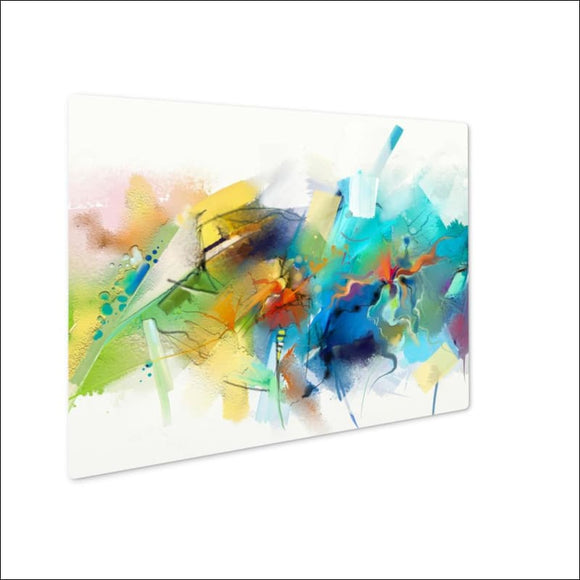 Metal Panel Print, Abstract Colorful Oil Painting On Canvas Hand Drawn Brush Stroke Oil Color - AmazinTrends.com