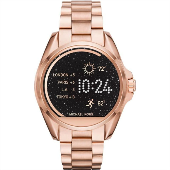 Michael Kors - Access Bradshaw Smartwatch 44.5mm Stainless Steel - Rose gold - AmazinTrends.com
