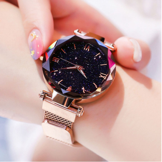 Women Watch Fashion Starry Sky Magnet Buckle Ladies Wrist Watch - AmazinTrends.com