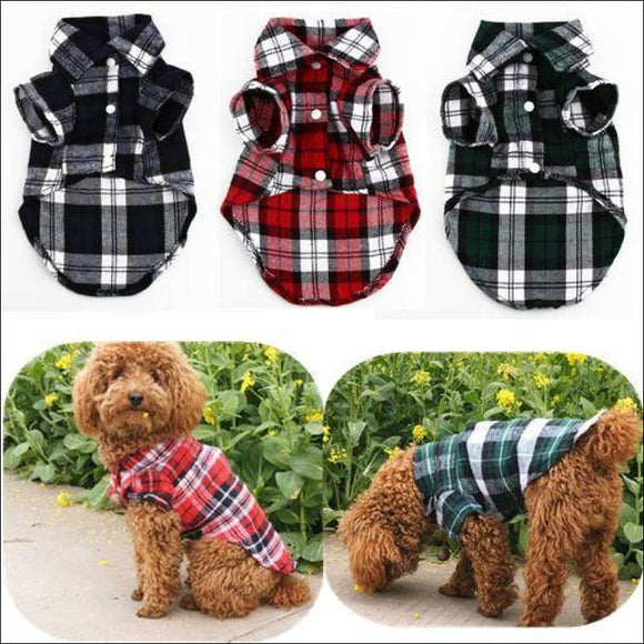 Puppy T-Shirt Plaid - AmazinTrends.com