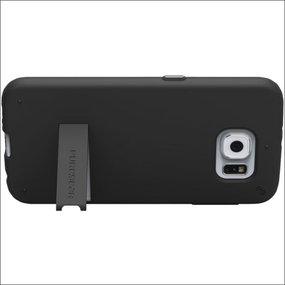 PureGear(R) 99558VRP Slim Shell Case with Kickstand for Samsung(R) Galaxy S(R) 6 (Black) - gift-bzaar