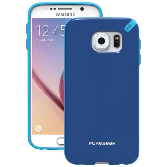 PureGear(R) 99818VRP Slim Shell Case for Samsung(R) Galaxy S(R) 6 (Pacific Blue) - AmazinTrends.com