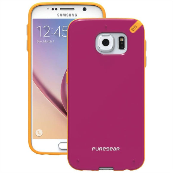 PureGear(R) 99819VRP Slim Shell Case for Samsung(R) Galaxy S(R) 6 (Sunset Pink) - AmazinTrends.com