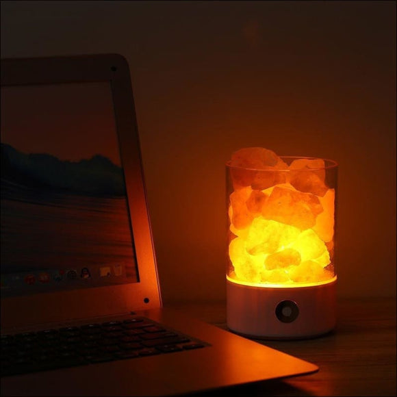Real Himalayan Salt Crystal Rock Lamp - AmazinTrends.com
