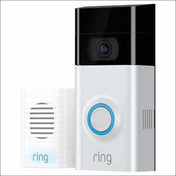 RING Video Doorbell 2 w/ Bonus Chime and 1 Year Ring Video Cloud Recording - AmazinTrends.com