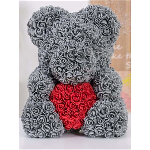 Rose Bear Heart Shaped Flowers - AmazinTrends.com