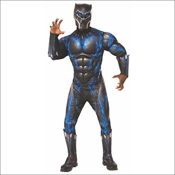Rubie's Men's Deluxe Black Panther Muscle Chest Battle Suit Costume - AmazinTrends.com