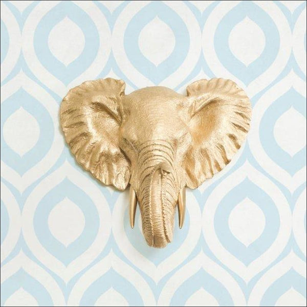 Savannah Mini in Gold - Faux Elephant Head by Wall Charmers™ - AmazinTrends.com