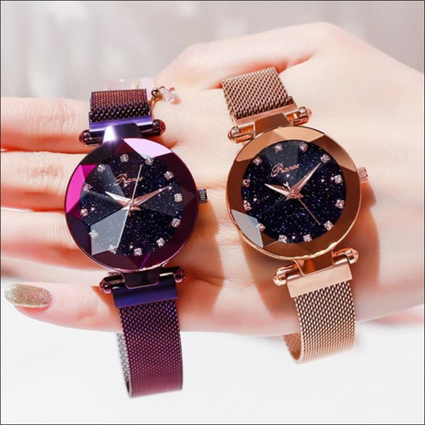 Starry Sky Luxury Women Watch With Magnetic Strap - AmazinTrends.com