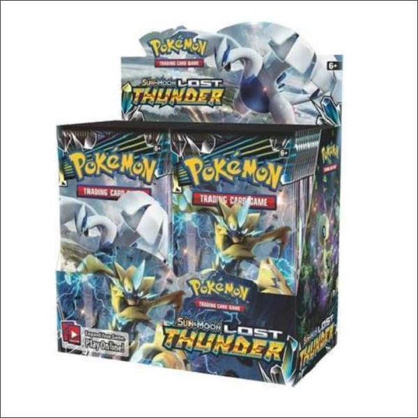 Sun & Moon Booster Box Pokemon Lost Thunder- Factory Sealed - AmazinTrends.com