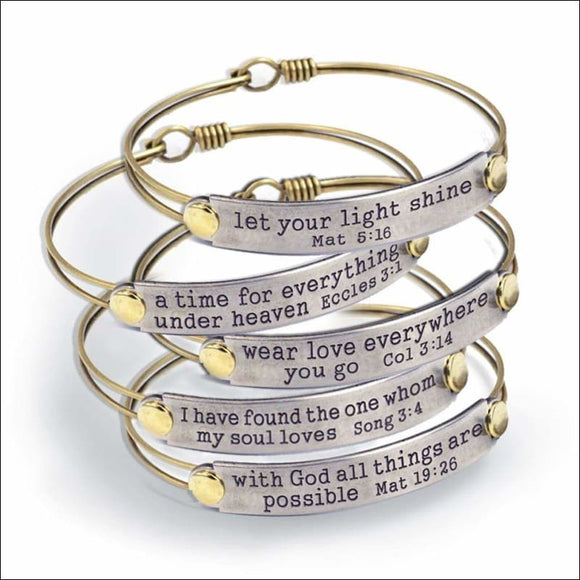 Sweet Romance Of the Spirit Inspirational Bible Verse Bracelets - AmazinTrends.com