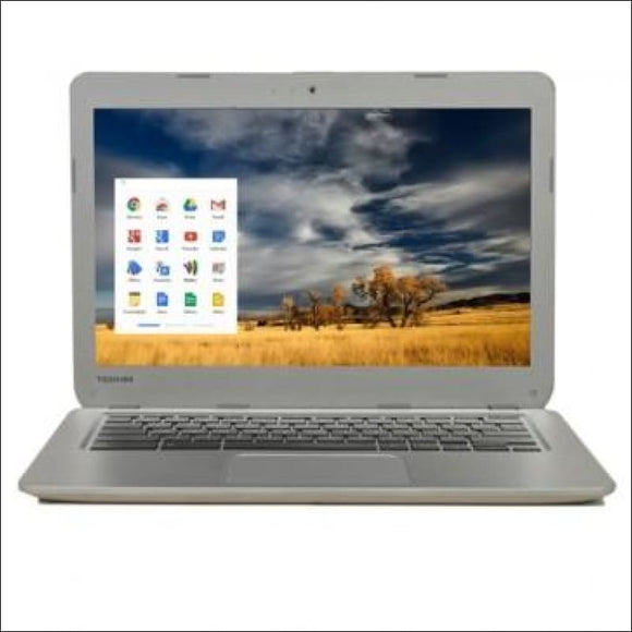 Toshiba CB30-A3120 Celeron 2955U Dual-Core 1.4GHz 2GB 16GB SSD 13.3 LED Chromebook Chrome OS w/Webcam & BT (Silver) - B - AmazinTrends.com
