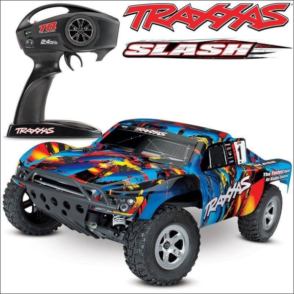 Traxxas Slash XL-5 2WD RTR w/TQ 2.4GHz Short Course Electric RC Truck - 58024 - AmazinTrends.com