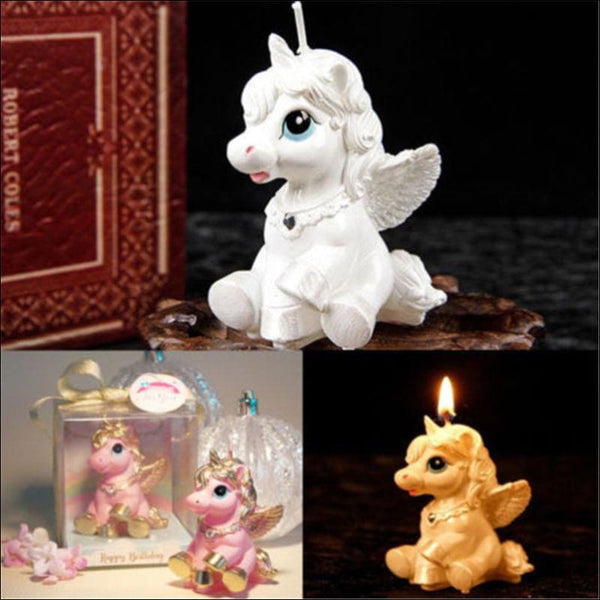 Unicorn Kids Birthday Candle Party Cake Cute Toy Decoration Romantic Bougie Gift - AmazinTrends.com