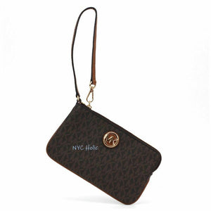 New Michael Kors Fulton Large Wristlet Signature PVC Canvas - AmazinTrends.com