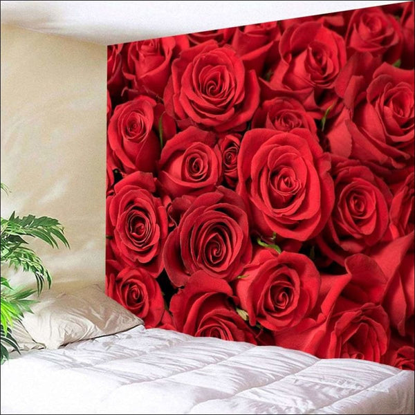 Valentines Day Roses Print Wall Tapestry🌹❤️ - AmazinTrends.com
