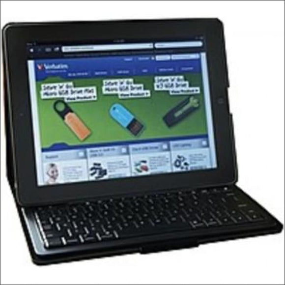 Verbatim Folio Slim Case with Keyboard for Apple iPad 2, 3, 4 - Bluetooth - AmazinTrends.com