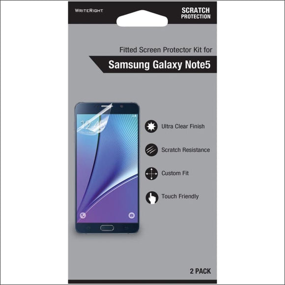 WriteRight(R) 9538901 Screen Protector for Samsung(R) Galaxy Note(R) 5, 2 pk - AmazinTrends.com