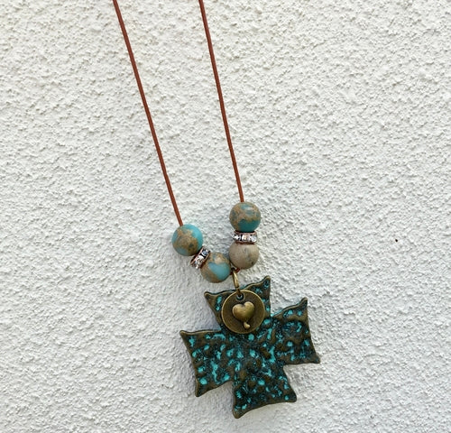 Boho Cross Necklace - Looks and Goods