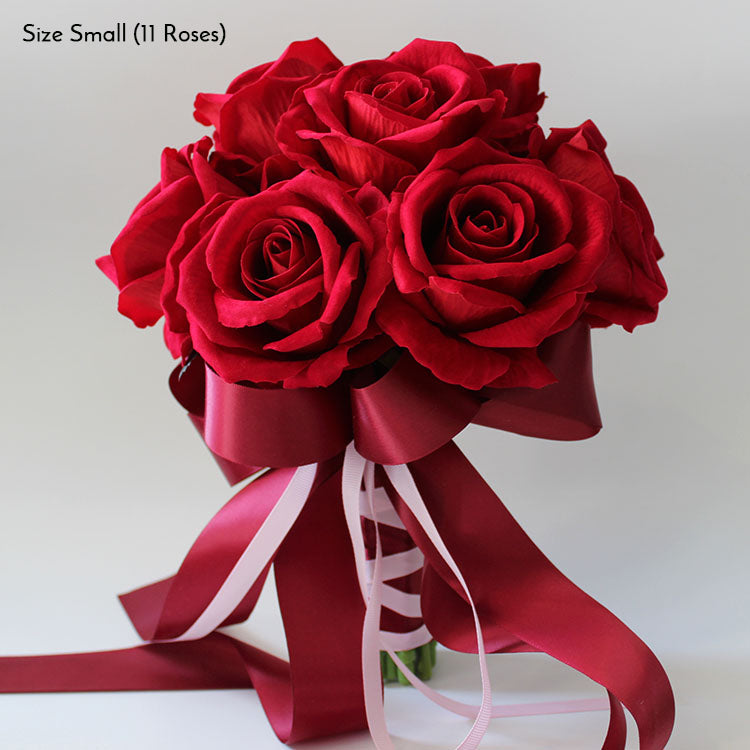 Red Roses Wedding Bouquets.Valentine