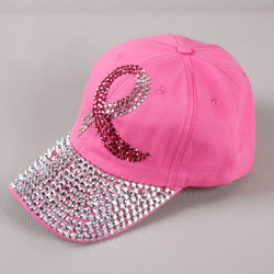 Pink Breast Cancer Awareness Baseball Cap-Baseball Cap-Help Us Beat Cancer