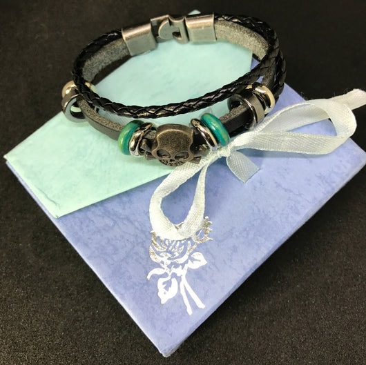 3 Layer Leather Bracelet Ovarian And Cervical Cancer Awareness Colour For Women-Bracelet-Help Us Beat Cancer