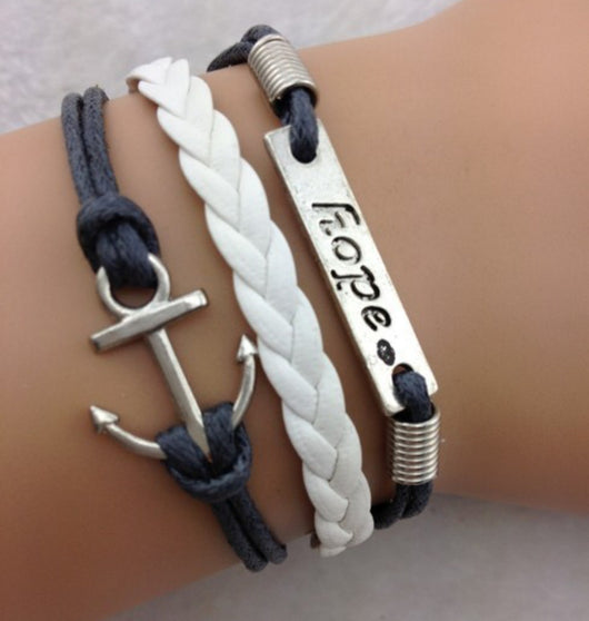 Anchor Rope Hope Bracelet For Men And Women-Bracelet-Help Us Beat Cancer