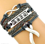 Brain Cancer Hope Bracelet With Cancer Ribbon And Love Infinity Charms For Men And Women-Bracelet-Help Us Beat Cancer