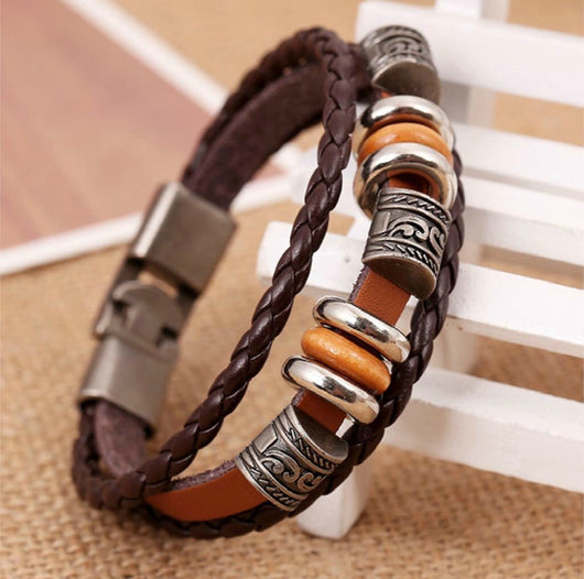 Vintage Leather Hand Made Woven Fashionable Bracelet For Men And Women-Bracelet-Help Us Beat Cancer