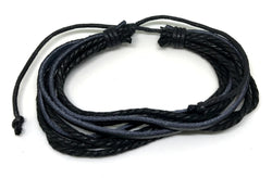 Black Leather Bracelet For Women And Men-Bracelet-Help Us Beat Cancer