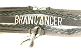 Brain Cancer With Love Infinity And Cancer Ribbon Charm Bracelet-Bracelet-Help Us Beat Cancer