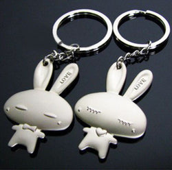 Cute Couple Bunnies Key Ring-Key Ring-Help Us Beat Cancer