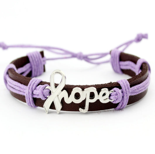 Pancreatic Cancer Awareness And Uterine Leiomyosarcoma Bracelet For Men And Women-Bracelet-Help Us Beat Cancer