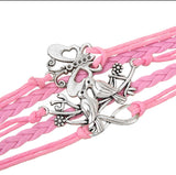 Pink Love Infinity Butterfly Lovebirds Bracelet-Bracelet-Help Us Beat Cancer