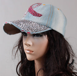Denim Cancer Awareness Baseball Cap For Women-Baseball Cap-Help Us Beat Cancer