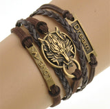 Wolf Dream And Lover Bracelet For Men And Women-Bracelet-Help Us Beat Cancer
