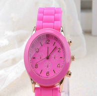 Pink Ladies Silicone Analog Quartz Jelly Watch-Watch-Help Us Beat Cancer