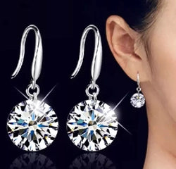 Crystal Drop Zirconia Gemstone Earrings-Earrings-Help Us Beat Cancer
